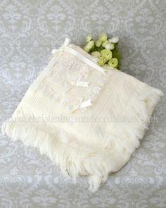 Luxury ivory Christening shawls