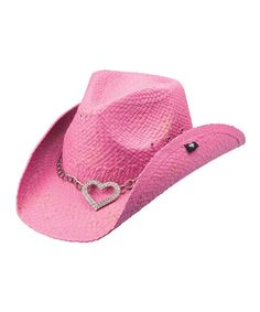 This Pink Heart Attack Cowboy Hat is perfect! #zulilyfinds