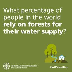 Happy #IntlForestDay! What % of people in the world rely on #forests for their water supply?