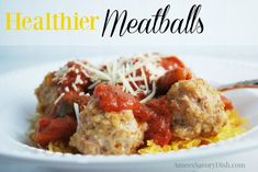 These healthier meatballs are nutritious and delicious! Healthier Meatballs http://ameessavorydish.com/healthier-meatballs/