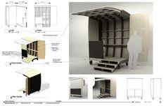 Excellently Communicated Design Kiosk Design, Display Design, Booth Design, Retail Design, Rooftop Restaurant, Restaurant Concept, Restaurant Design, Mobile Architecture, Food Cart Design