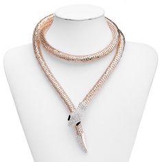 Mesh Gold Snake Necklace
