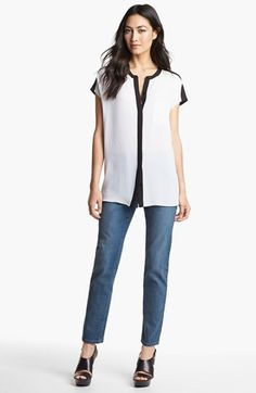 NYDJ Tunic & 'Sheri' Skinny Jeans  available at #Nordstrom
