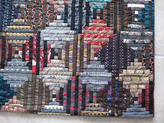 wool suit/silk tie quilt