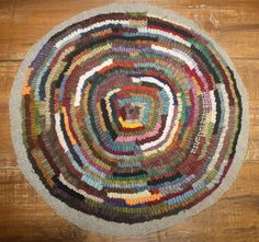Primitives by the light of the moon: Binding a Round Hooked Rug or Chairpad