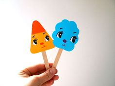 Paper popsicle post cute paper bookmark and card