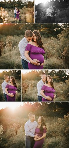 atlanta maternity photographer garrard landing park - katya vilchyk - stunning fall maternity session, couples maternity portraits, purple maternity dress, boho maternity dress