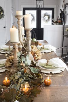 Natural Fall Dining Table - Farmhouse Inspired