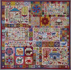 Pandemonium by Kim McLean - gorgeous panels, gorgeous Kaffe fabrics.  I love so many individual pieces.  Wouldn't finishing the bits of this be one long happy dance?
