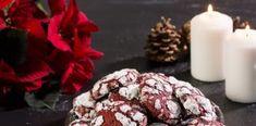 Ραγισμένα κόκκινα μπισκότα Cookies, Chocolate, Desserts, Food, Crack Crackers, Tailgate Desserts, Deserts, Biscuits, Schokolade