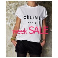 Celine Paris T-Shirt Style Printed T-Shirt Women T-Shirt ($13) ❤ liked on Polyvore featuring tops, t-shirts, grey, women's clothing, tall t shirts, vinyl top, gray tee, gray top and short sleeve tee