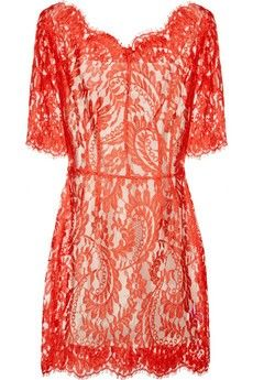 lace orange dress