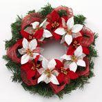 Christmas Craft: Poinsettia & Ribbon Wreath