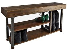 Inspiring Entryway with Classy Entry Bench With Shoe Storage and High Quality Teak Bench. Black Iron Frame with 2 Level Shoe Rack and Rustic Interior Designs, along with Cute Green Woman's Shoe