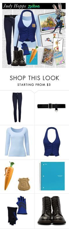 """Judy Hopps from Zootopia"" by astriddt ❤ liked on Polyvore featuring WearAll, Ralph Lauren, Uniqlo, Disney, ACCO, Vincent Pradier, disney, disneybound, zootopia and judyhopps"