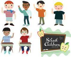 School Children Clip Art Set!
