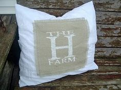 I have a ton of burlap to do this with...I love initial, fleur di lis, & cross stencils on them...
