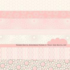 Digital  Scrapbook Papers    Tender by TracyAnnDigitalArt on Etsy, $4.95