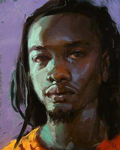 """Daily Paintworks - """"Seconds"""" - Original Fine Art for Sale - © John Larriva Art And Illustration, Figure Painting, Painting & Drawing, John Larriva, Figurative Kunst, African American Art, Portrait Art, Portrait Paintings, Art Plastique"""