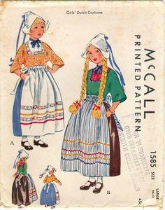 1585 McCall's pattern 1950 girls from Volendam