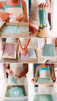 DIY: fabriquer votre propre papier à partir de presque tout.