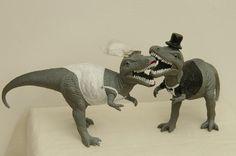 T-Rex Dinosaur Cake Topper by luxlunae on Etsy Wedding Pins, Wedding Humor, Our Wedding, Dream Wedding, Wedding Stuff, Wedding Shit, Wedding Bells, T Rex Cake, Dino Cake