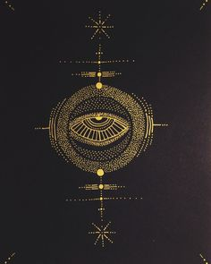 Love the gold glyphs of ©Penabranca Occult Symbols, Occult Art, Mystic Symbols, Geniale Tattoos, Dark Art, Malm, Magick, Tattoo Inspiration, Body Art