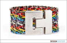 From James Carroll (Ireland): Upcycled IBM Wire Bracelet Genie Bottle, Ibm, Bracelet Making, 1990s, Contemporary Design, Upcycle, Metal, Bracelets, Creative