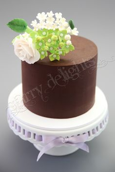 Ganache cake - This was my first attempt at ganaching a cake :) https://www.facebook.com/StarryDelights