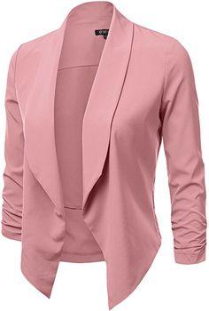 DRESSIS Women's 3/4 Sleeve Open Front Blazer BRICK S at Amazon Women's Clothing store: Fashion Dresses, Blazer, My Style, Sleeves, Brick, Jackets, Clothes, Amazon, Store