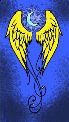 Dit zijn de gouden vleugels van Eros, de god van de liefde. Dit symbool is het embleem van de vierdejaars en symboliseert de liefde van Nux voor haar kinderen, de vampiers en halfwassen.