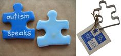 Make some super cute puzzle piece cookies for the holidays, and spread some Autism Awareness! http://shop.autismspeaks.org/puzzle-piece-cookie-cutter