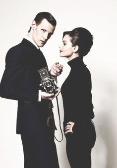 Matt Smith and Jenna Coleman - Doctor Who Doctor Who Cast, Free Short Stories, Clara Oswald, Eleventh Doctor, Dalek, Matt Smith, David Tennant, Dr Who, Looks Cool