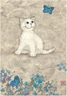 White Kitty By Jane Crowther.
