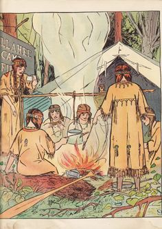 1916 edition of a Campfire Girls storybook