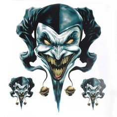Clown-Jester-Graphic-Sticker-Decal-Set-For-Motorcycle-Motorbike-Car-Truck