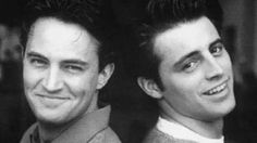 Matthew Perry and Matt Leblanc Tv: Friends, Friends Tv Show, Serie Friends, Friends Cast, Friends Moments, Young Celebrities, Young Actors, Celebs, Matthew Perry Young