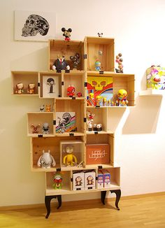 Wine Box Shelf by 2much, via Behance