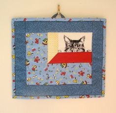 WALL HANGING (Could change cat to anything...like an owl!)