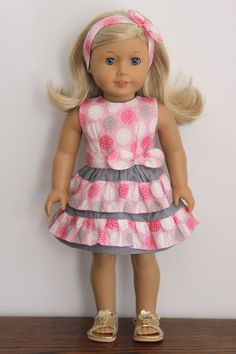 American Girl Doll Spring Summer dress and par dollpetitecouture