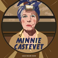 Day 27: Minnie Castevet from Rosemary's Baby (1968), the neighbor from hell. Art by Sarah Hedlund Design, www.sarahhedlund.com. #witch #halloween #witches #art