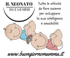 Il neonato da 3 a 6 mesi (tutte le attività da fare insieme per sviluppare la sua intelligenza e sensibilità) - Buongiorno Mamma Montessori Baby, Baby Education, Newborn Photography, New Baby Products, Blog, Parenting, Activities, Matilda, Fitness