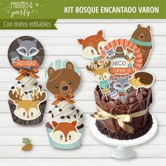 Woodland Party, Gingerbread Cookies, Animals, Enchanted Forest Party, Animal Birthday, Forest Animals, Invitation Cards, Theme Parties, Candy Stations