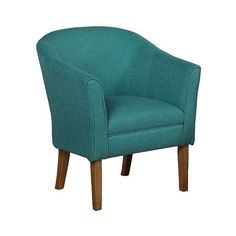 Textured Tub Chair Teal ($250) ❤ liked on Polyvore featuring home, furniture, chairs, blue, blue chair, colored chairs, teal colored chairs, teal blue chair and blue furniture