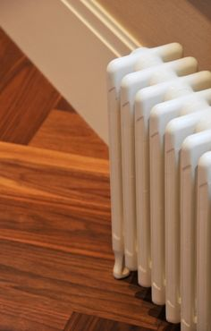 Radiators are used in steam and hot water heating. Home Heating Systems, Radiant Heating System, Steam Radiators, Heat Pump System, Pipe Insulation, Thermal Expansion, Energy Saver, Water Heating, Large Homes