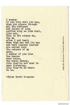 Typewriter Series #894 by Tyler Knott Gregson