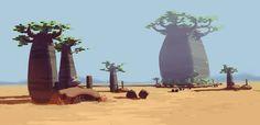 The Baobab. by NathanDupouy.deviantart.com on @DeviantArt