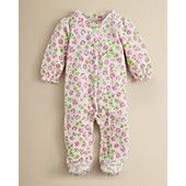 Absorba+Infant+Girls'+Floral+Footie+-+Sizes+0-9+Months