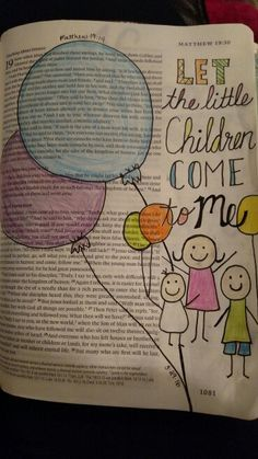 """Matthew 19:14; Let the little children come to me""""... #biblejournaling"""