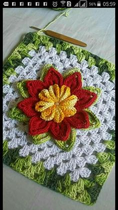If you have free time and want to do knitting then we are showing you 15 easy DIY knitting ideas that you love to do knit.rose, crochet, can be a nice d - Salvabrani - Salvabrani Crochet Pillow Pattern, Granny Square Crochet Pattern, Crochet Blocks, Crochet Squares, Crochet Motif, Crochet Yarn, Crochet Home, Crochet Flower Tutorial, Crochet Flower Patterns